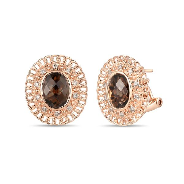Chocolate Quartz Earrings by Le Vian from the Creme Brulee Collection Wesche Jewelers Melbourne, FL