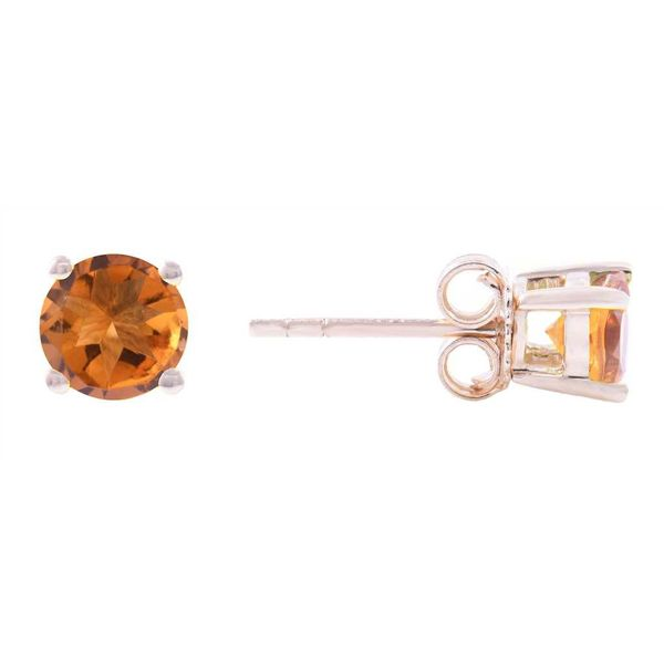 Citrine Stud Earrings Wesche Jewelers Melbourne, FL