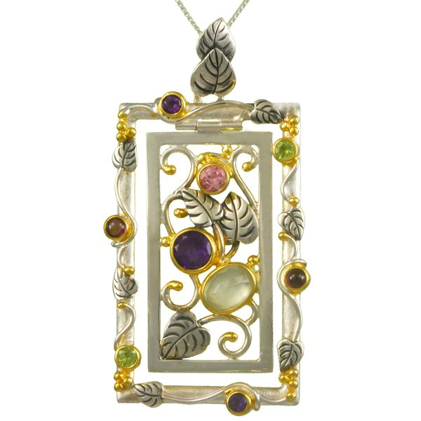 Vine Frame Pendant on Chain by Michou Wesche Jewelers Melbourne, FL
