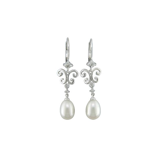 Freshwater Pearl Drop Earrings Wesche Jewelers Melbourne, FL