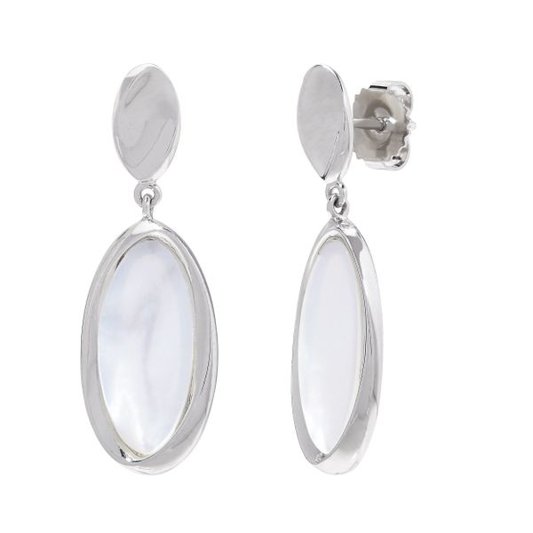 White Mother of Pearl Earrings by Honora Wesche Jewelers Melbourne, FL
