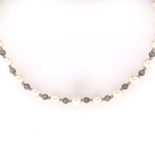 Freshwater Pearl Necklace with Brilliance Bead Accents Wesche Jewelers Melbourne, FL