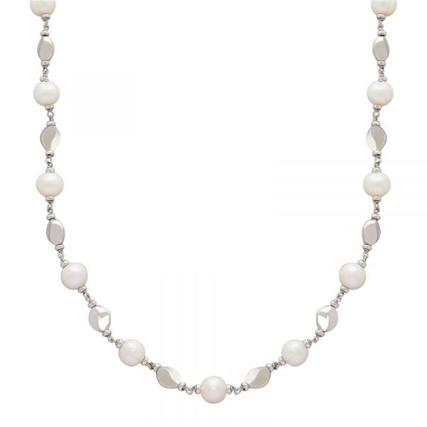 White Freshwater Pearl & Nugget Necklace Wesche Jewelers Melbourne, FL