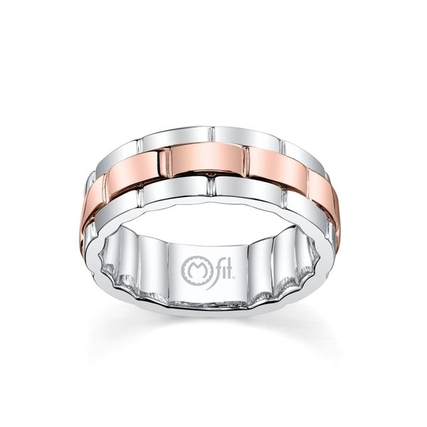 """M-Fit"" Rose and White Band Wesche Jewelers Melbourne, FL"