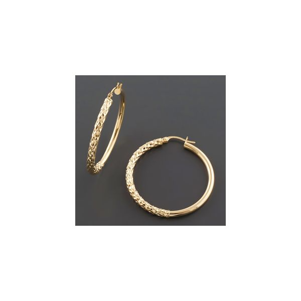 Diamond Cut Hoops Wesche Jewelers Melbourne, FL