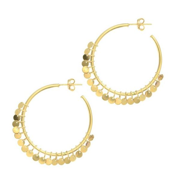 Tube Hoops with Multi Dangle Accents by Royal Chain Wesche Jewelers Melbourne, FL
