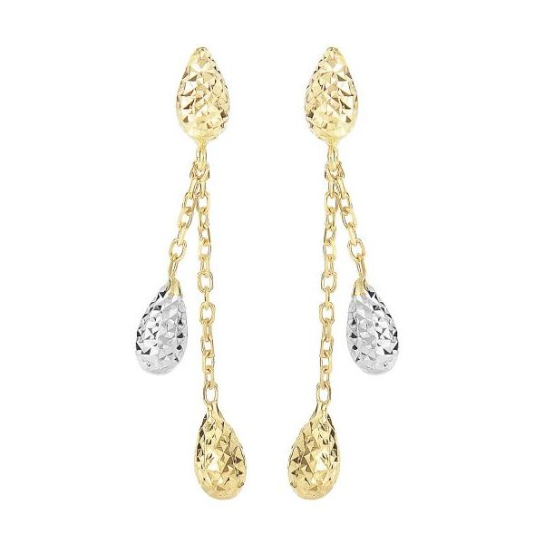 Diamond Cut Double Teardrop Earrings by Royal Chain Wesche Jewelers Melbourne, FL
