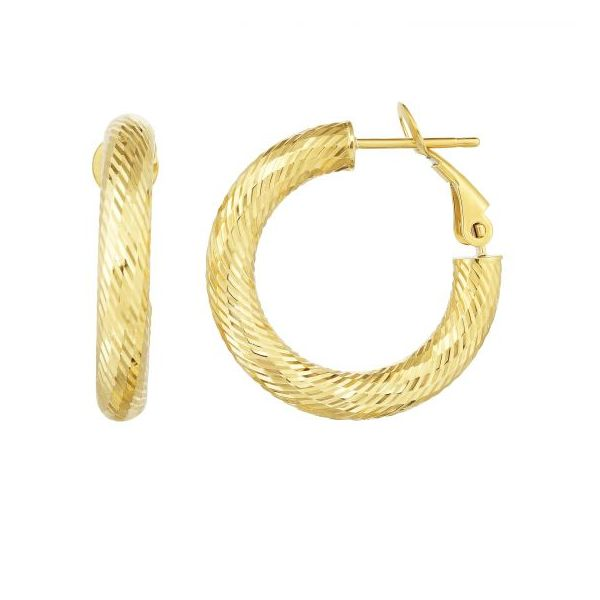 Twist Hoop Earrings by Royal Chain Wesche Jewelers Melbourne, FL