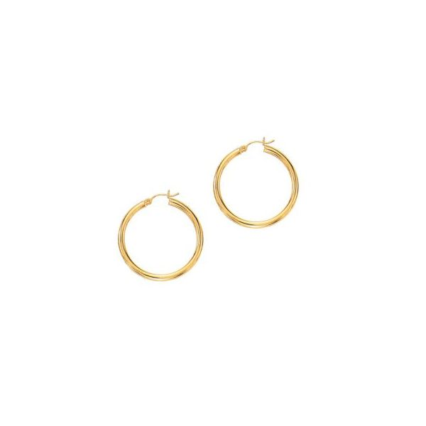 Polished Tube Hoop Earrings by Royal Chain Wesche Jewelers Melbourne, FL