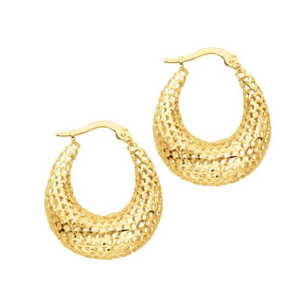 Mesh Hoop Earrings by Royal Chain Wesche Jewelers Melbourne, FL