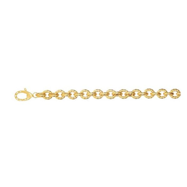Twisted Circles Link Bracelet by Royal Chain Wesche Jewelers Melbourne, FL