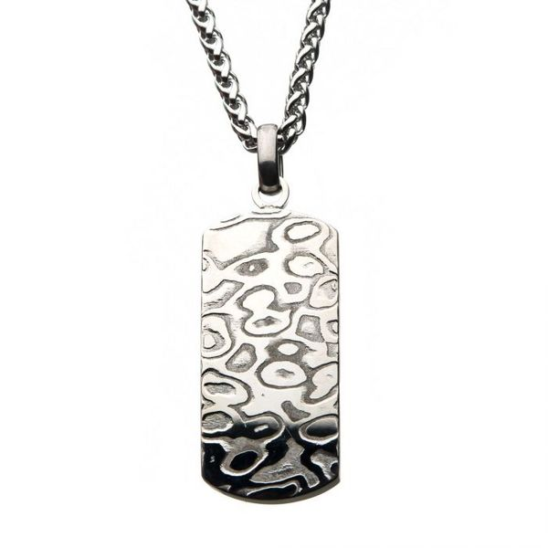 Damascus Dog Tag Pendant by INOX Wesche Jewelers Melbourne, FL