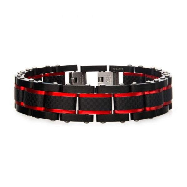 Black and Red Bracelet by INOX  Wesche Jewelers Melbourne, FL