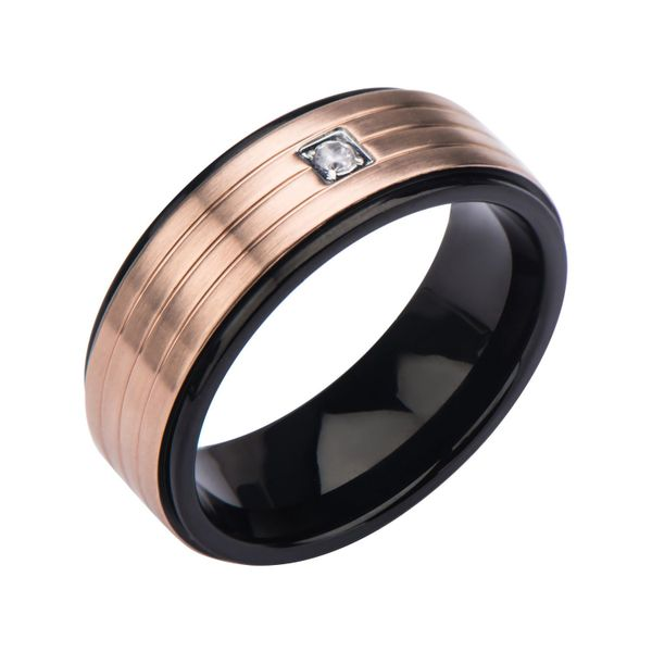 Black and Rose Ring with by INOX Wesche Jewelers Melbourne, FL