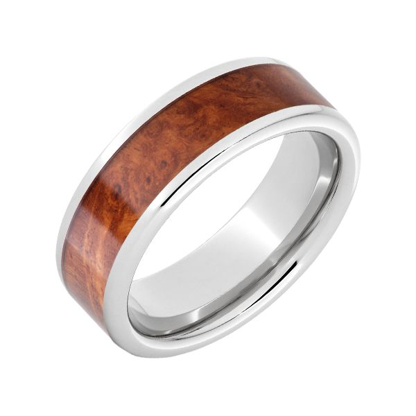 Serenium Band with Burl Wood Wesche Jewelers Melbourne, FL