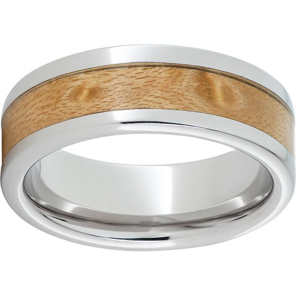 Serinium Band with Maple Wood Wesche Jewelers Melbourne, FL