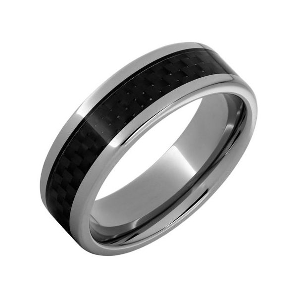 Titanium Band with Carbon Fiber Inlay Wesche Jewelers Melbourne, FL