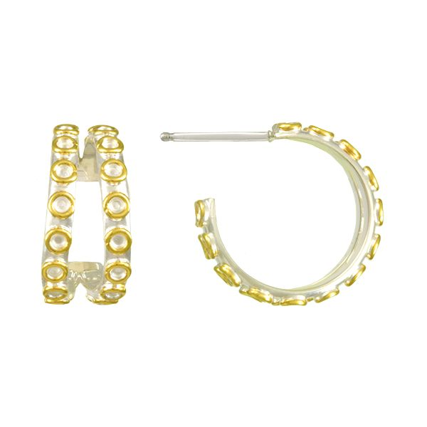 "Two-Tone Split Hoop Earrings by Michou - ""Poseidon's Treasures"" Collection Wesche Jewelers Melbourne, FL"