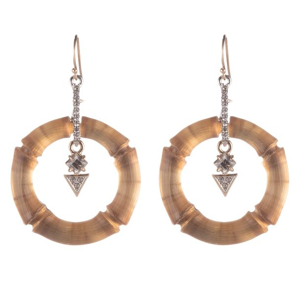 Bamboo Circle Earrings by Alexis Bittar Wesche Jewelers Melbourne, FL
