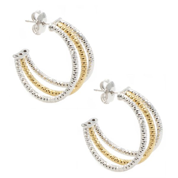 Three Row Hoop Earrings by Frederic Duclos Wesche Jewelers Melbourne, FL