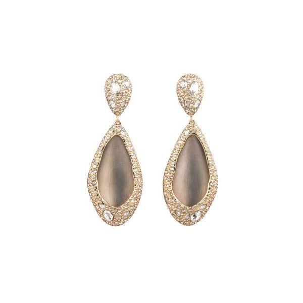 Gray Teardrop Clip-On Earrings by Alexis Bittar Wesche Jewelers Melbourne, FL