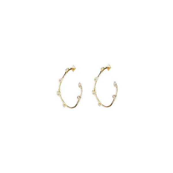 Crystal Accent Hoop Earrings by Alexis Bittar Wesche Jewelers Melbourne, FL