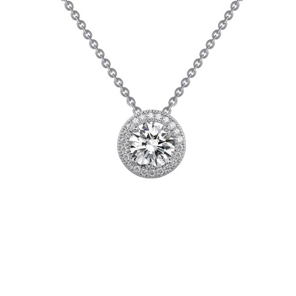 Simulated Diamond Halo Pendant by Lafonn Wesche Jewelers Melbourne, FL