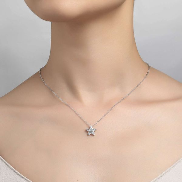 Simulated Diamond Pave Star Pendant by Lafonn Image 2 Wesche Jewelers Melbourne, FL