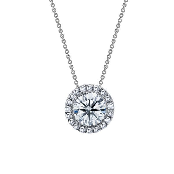 Simulated Diamond Halo Necklace by Lafonn Wesche Jewelers Melbourne, FL