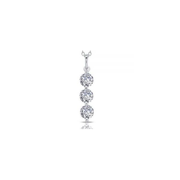 Simulated Diamond 3-Stone Drop Pendant by Lafonn Wesche Jewelers Melbourne, FL