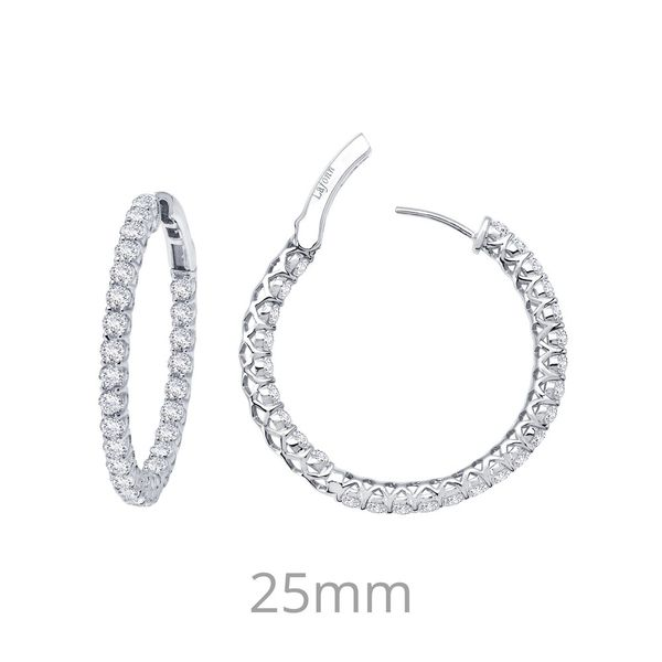 """Inside-Out"" Hoop Earrings Wesche Jewelers Melbourne, FL"