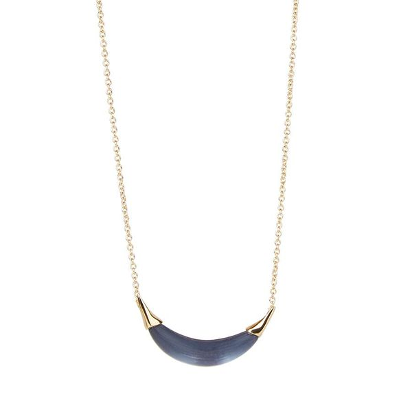 Blue Crescent Shaped Lucite Pendant Wesche Jewelers Melbourne, FL