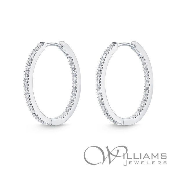 Memoire Diamond Hoop Earrings Williams Jewelers Englewood, CO