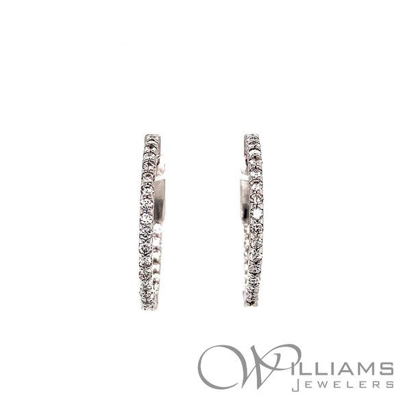 Williams Signature Diamond Hoop Earrings Williams Jewelers Englewood, CO