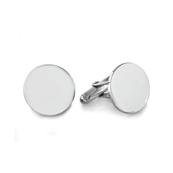 Sterling Silver Round Cuff Links Young Jewelers Jasper, AL