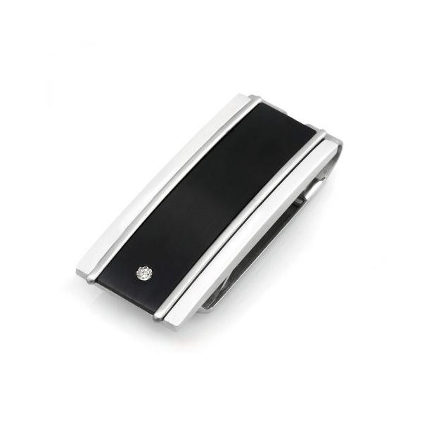 Black Titanium & Stainless Money Clip Young Jewelers Jasper, AL