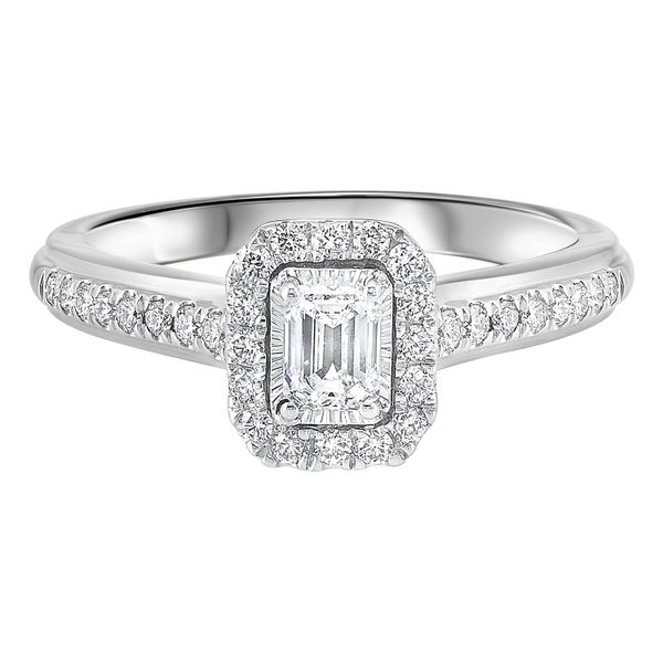 White Gold 3/4 ctw Diamond Emerald Cut Ring Your Jewelry Box Altoona, PA