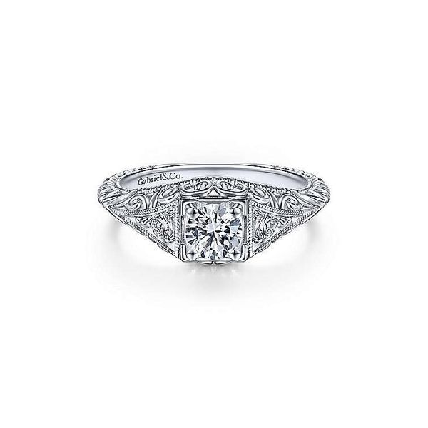 Platinum .60 ctw Diamond Fillagree Engagement Ring Your Jewelry Box Altoona, PA
