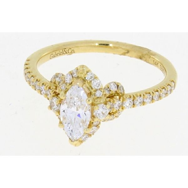 Gabriel & Co Yellow Gold Marquise Diamond Engagement Ring Complete Image 2 Your Jewelry Box Altoona, PA