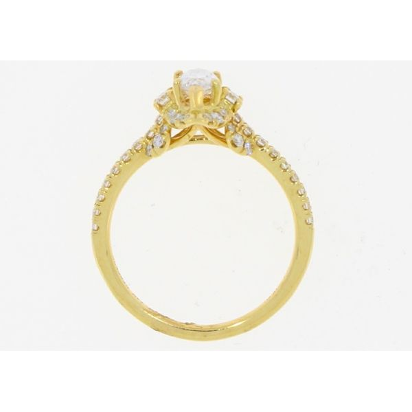 Gabriel & Co Yellow Gold Marquise Diamond Engagement Ring Complete Image 3 Your Jewelry Box Altoona, PA