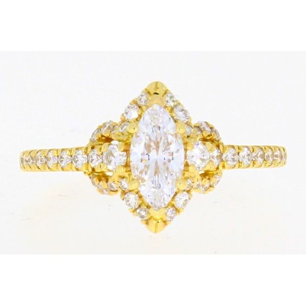 Gabriel & Co Yellow Gold Marquise Diamond Engagement Ring Complete Your Jewelry Box Altoona, PA