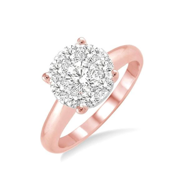 14K Rose Gold .75Ctw Lovebright Diamond Solitaire Ring Image 2 Your Jewelry Box Altoona, PA