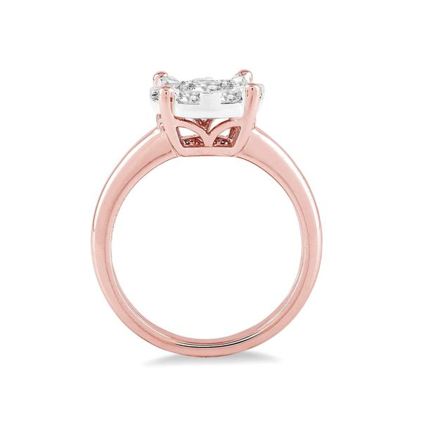 14K Rose Gold .75Ctw Lovebright Diamond Solitaire Ring Image 3 Your Jewelry Box Altoona, PA