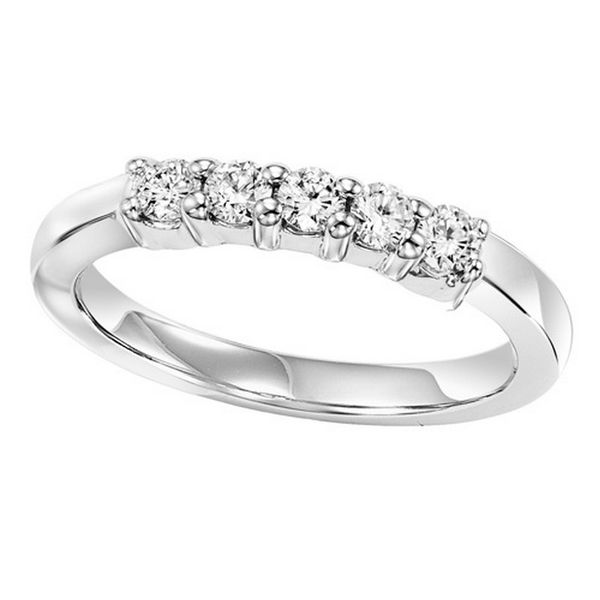 White Gold 5 Diamond Band Ring Your Jewelry Box Altoona, PA