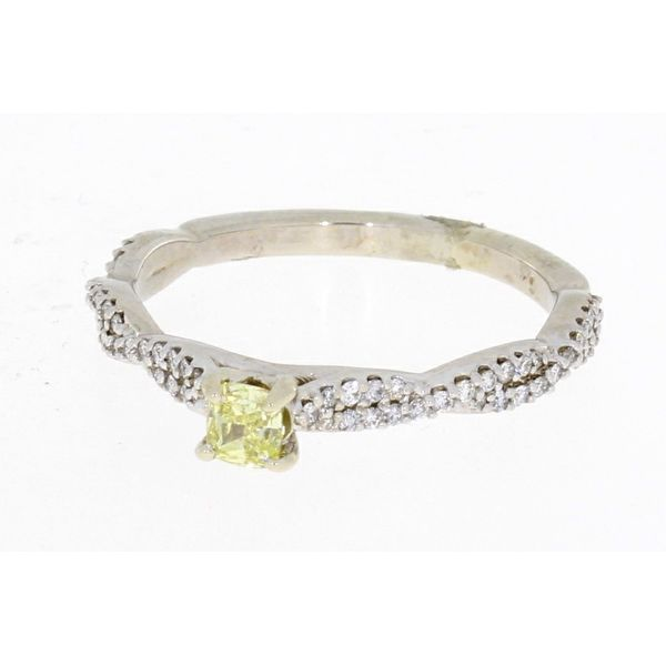 White Gold Yellow Diamond Ring Image 2 Your Jewelry Box Altoona, PA