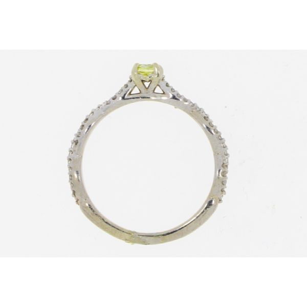 White Gold Yellow Diamond Ring Image 3 Your Jewelry Box Altoona, PA