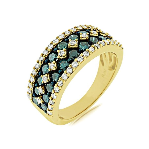 Yellow Gold Blue Diamond Ring Your Jewelry Box Altoona, PA