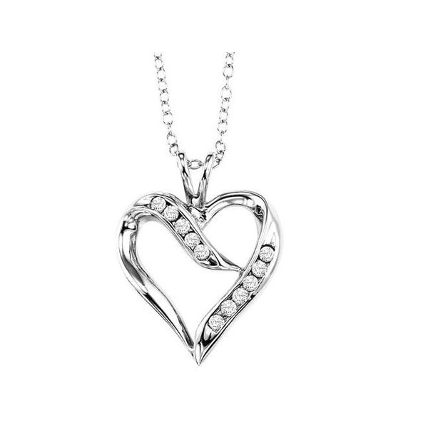 Silver Diamond Heart Necklace Your Jewelry Box Altoona, PA