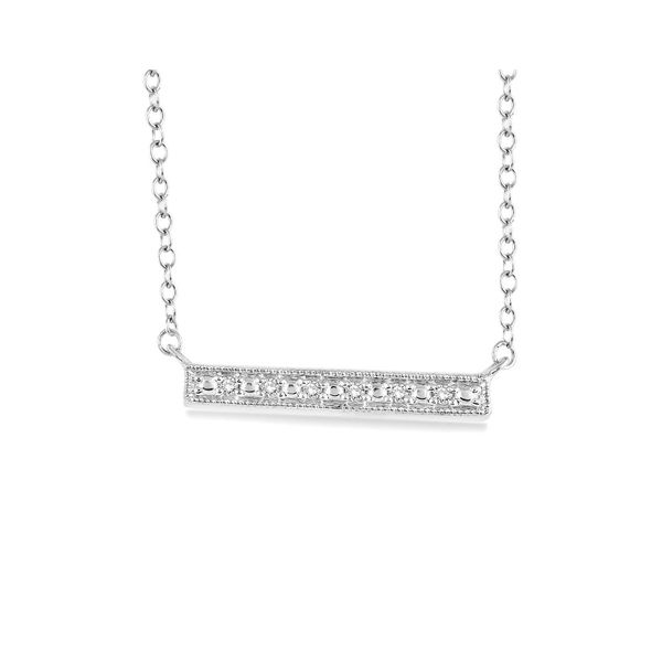 Silver Diamond Bar Necklace Image 2 Your Jewelry Box Altoona, PA