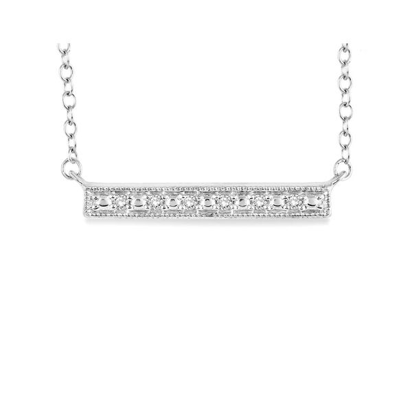 Silver Diamond Bar Necklace Image 3 Your Jewelry Box Altoona, PA